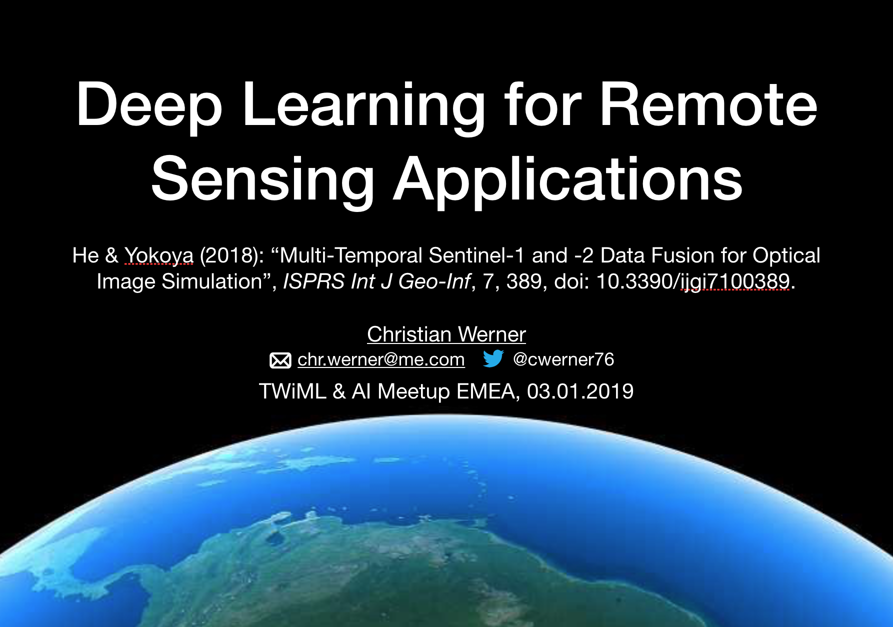 Deep Learning for Remote Sensing